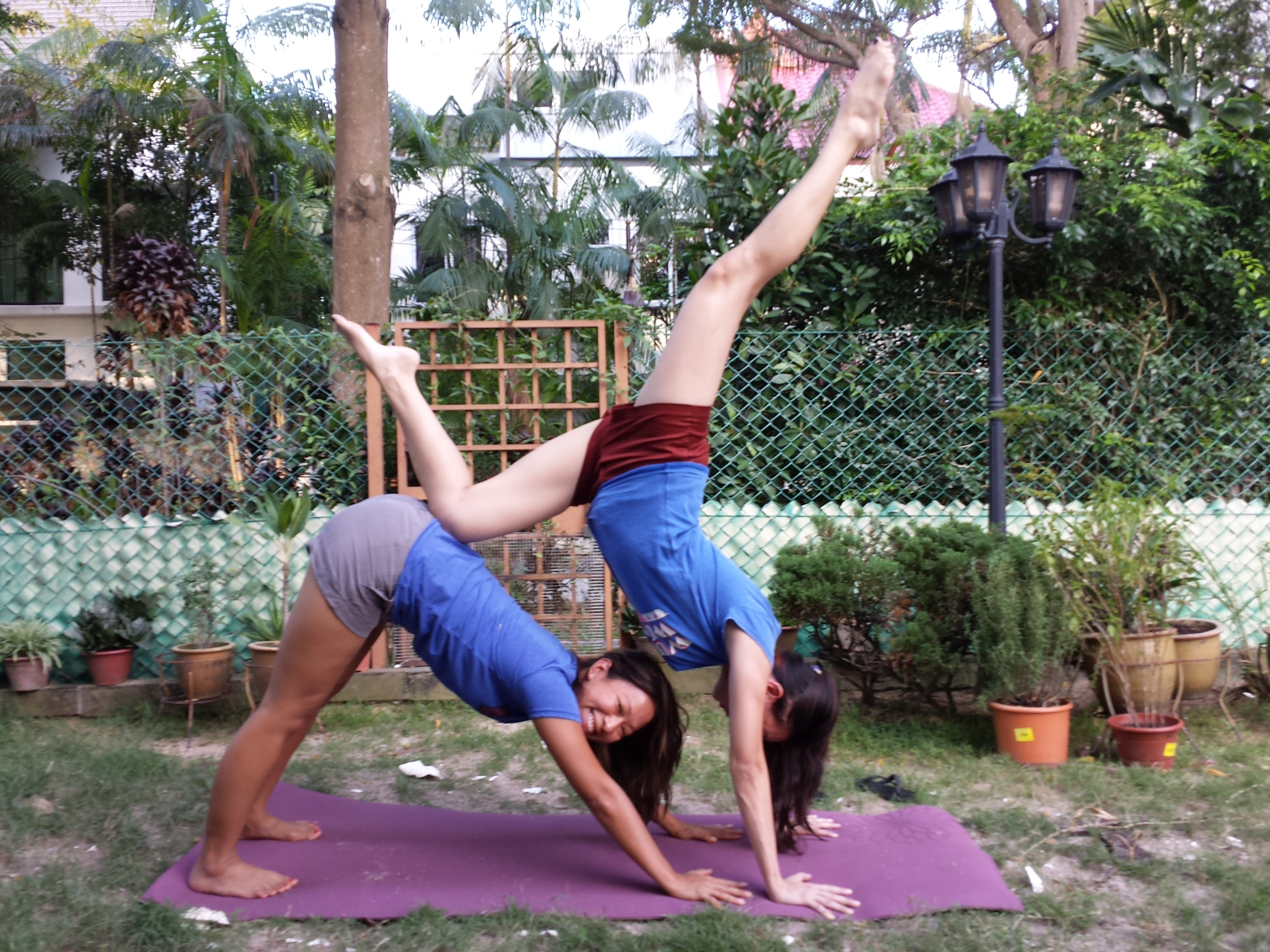 Yoga Poses For 2 People Easy Kids