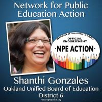 NPE Action endorses Shanthi Gonzales for Oakland School Board