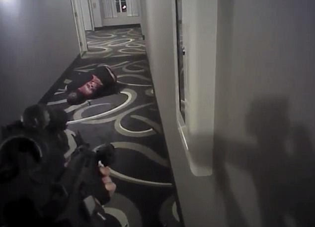 The video then shows the moment that Brailsford opens fire and shoots Shaver five times in the chest. While no gun was found on Shaver's body, two pellet rifles related to his pest-control job were later found in his room