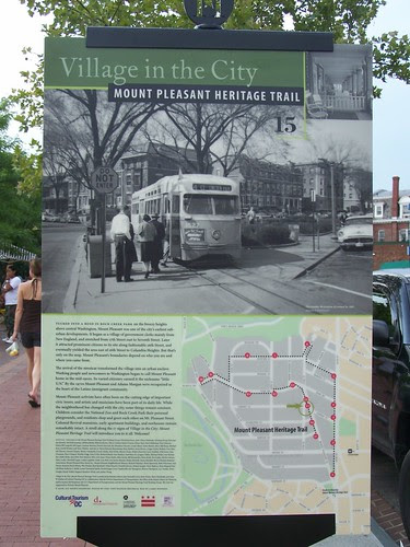 Mount Pleasant History Trail sign