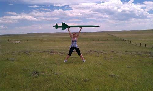 Kari Holding Jeff's Rocket