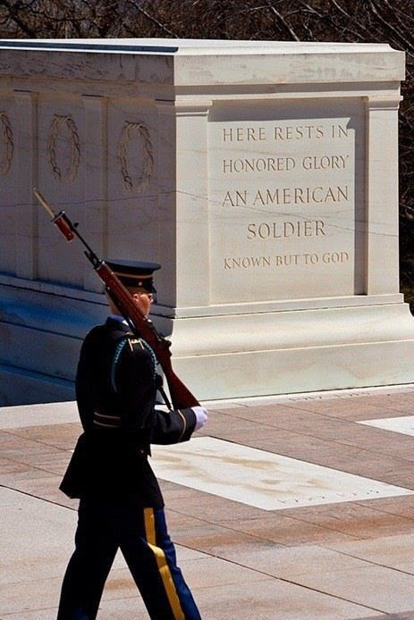Changing of the guard at the Tomb of the Unknown Soldier... so lucky to have seen this in person... very moving...