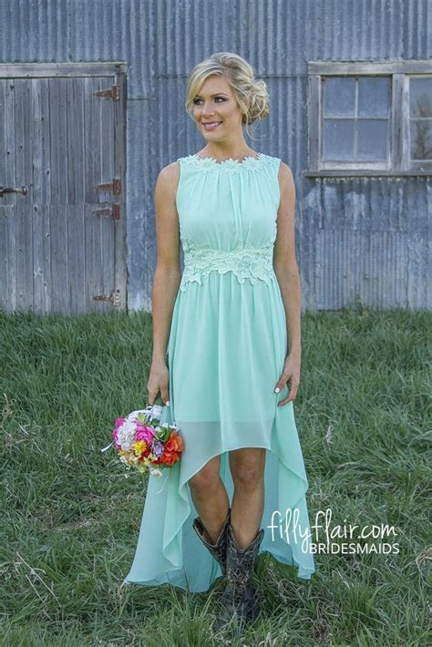 Romance in High Low Bridesmaid in Mint  Pre Order   my