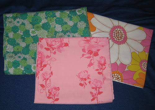 3 vintage pillowcases
