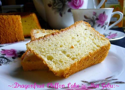 Dragonfruit Chiffon Cake