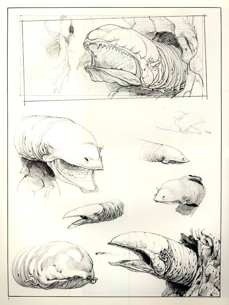 Ralph Mcquarrie - Sketches for Space Slug
