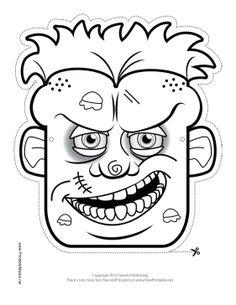 Free Zombie Printable Masks   Freebies   Pinterest   Scary ...