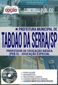 Apostila Prefeitura de Taboão da Serra -Professor de Educação Básica II – Educação Especial.