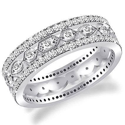 Diamond Eternity Bands and Rings in Platinum and Gold