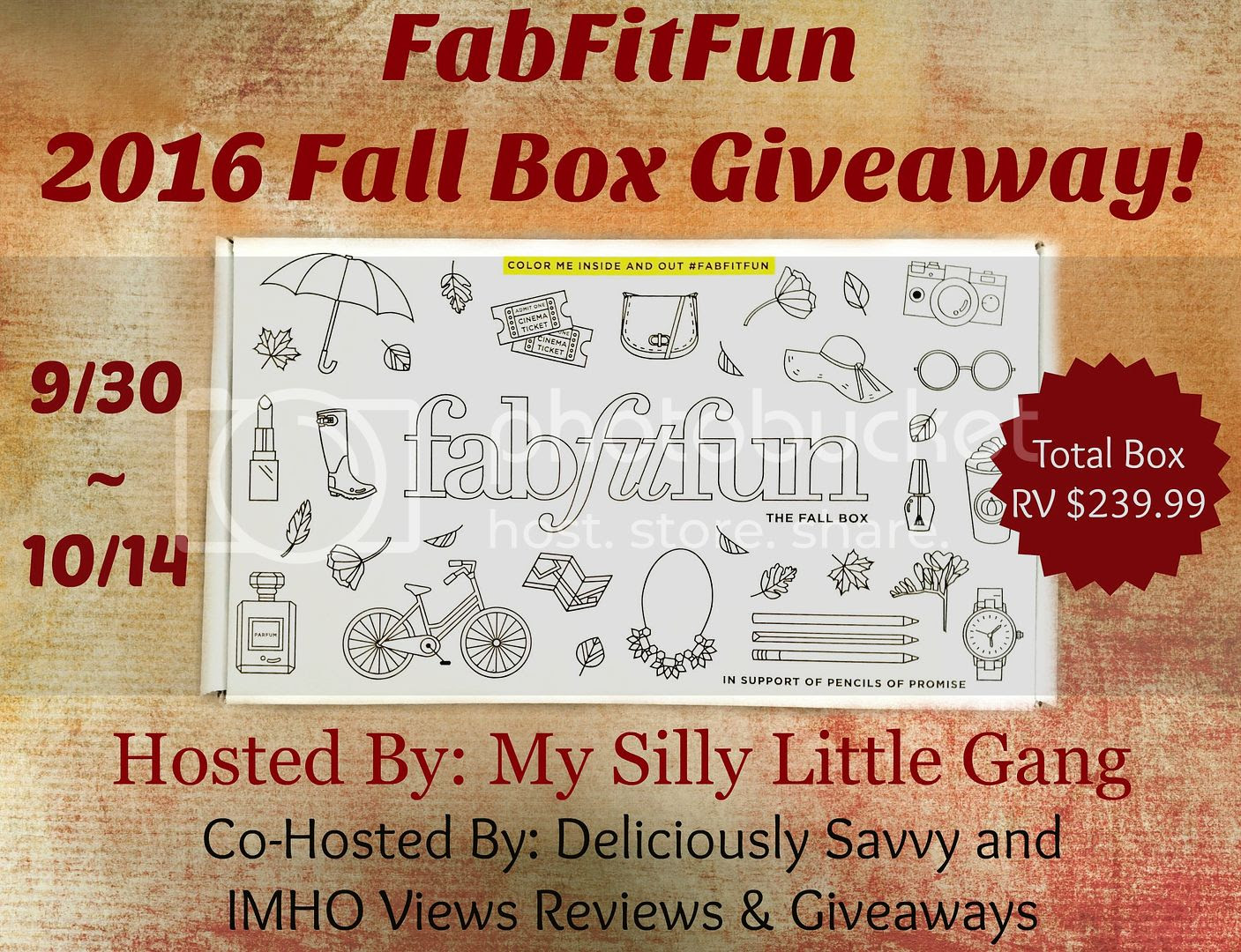 FabFitFun fall box giveaway. Ends 10/14