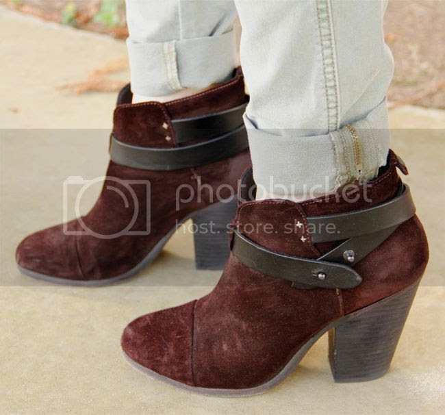 burgundy Rag & Bone Harrow boots
