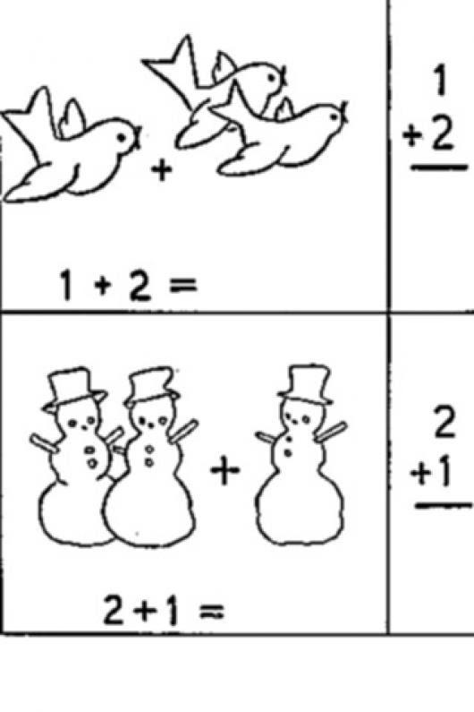 Dibujo De Sumas Matematicas Para Colorear Y Pintar Colorear