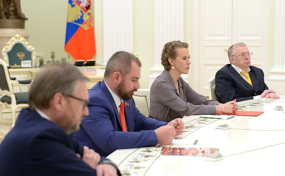 At a meeting with candidates for post of Russian Federation President.