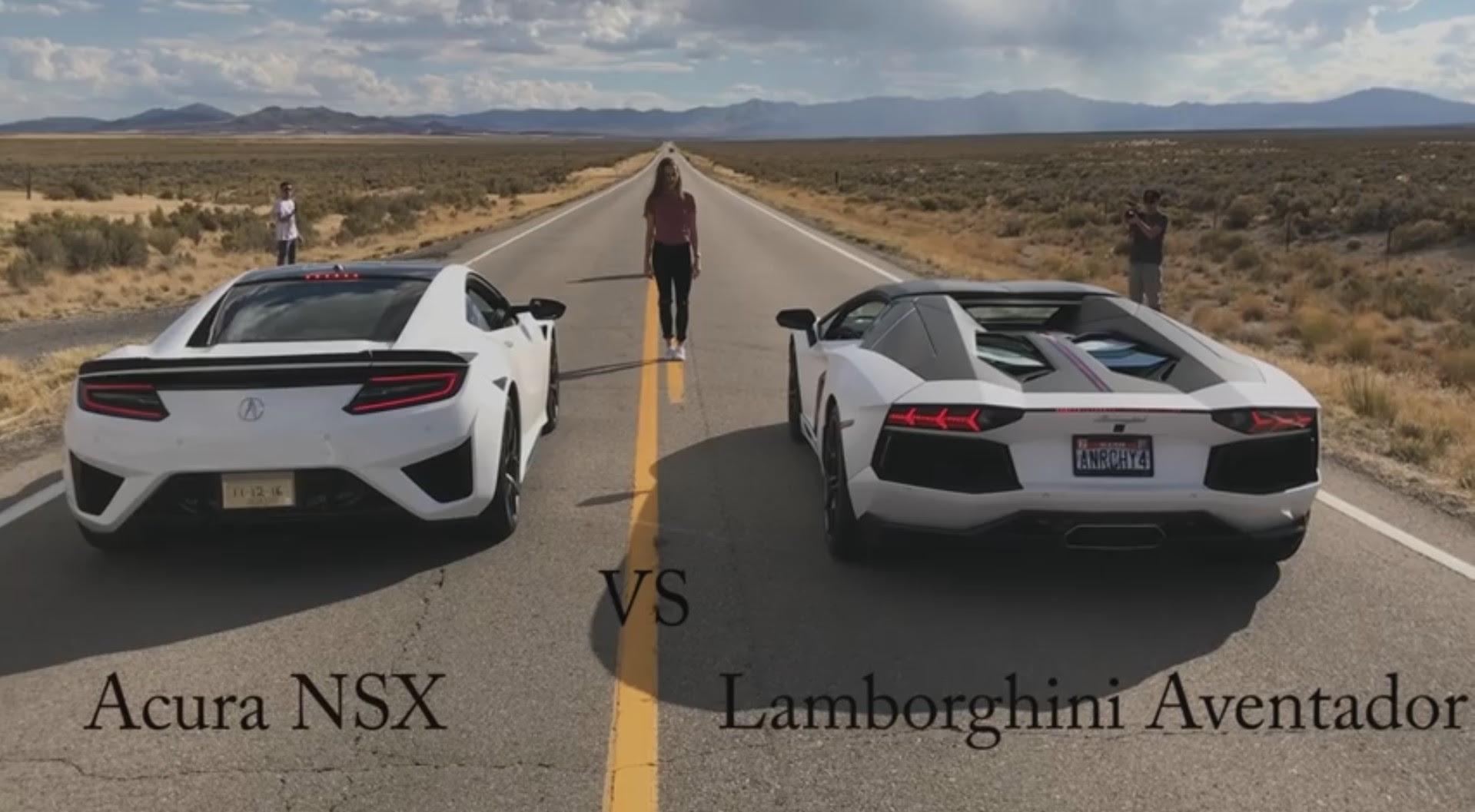 Acura NSX bests Lamborghini Aventador in drag race