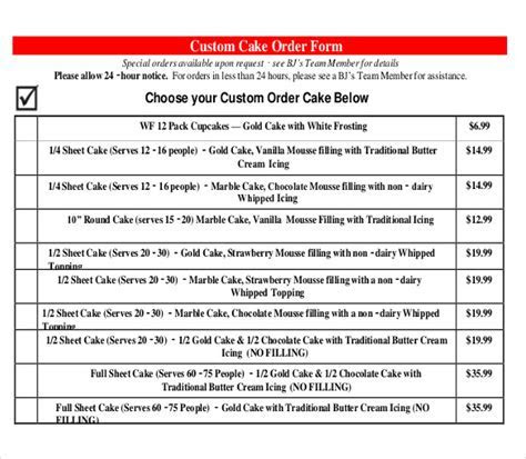 21  Bakery Order Templates   AI, MS Excel, MS Word   Free