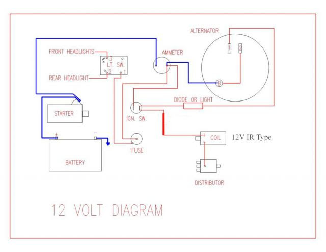 Diagram 3 Wire Alternator Diagram For 12v Tractor Full Version Hd Quality 12v Tractor Shock One Weblula It