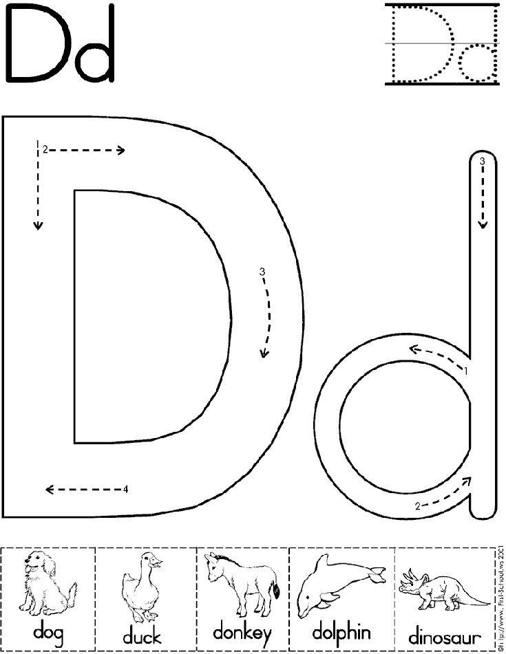 Alphabet Letter D Worksheet   Preschool Printable Activity ...
