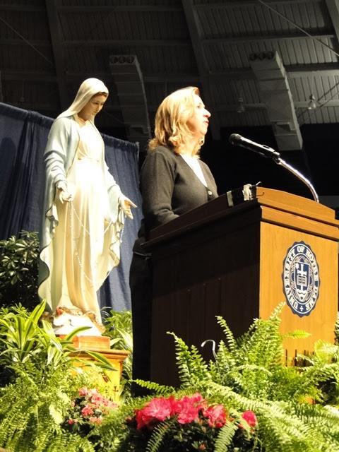 Podium shot of Marija at Notre Dame