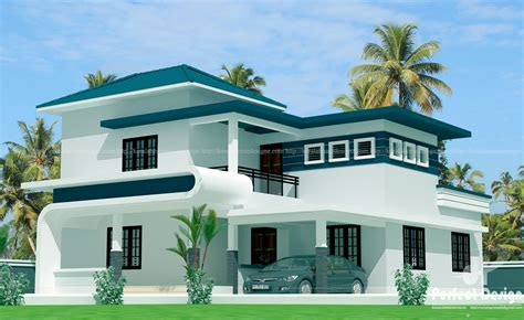 bhk modern double floor home kerala home design