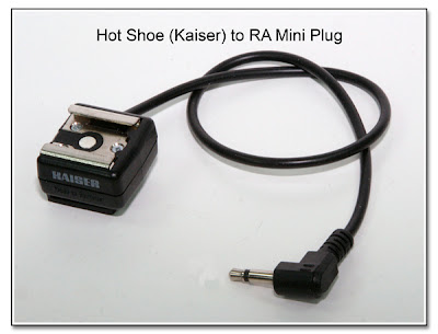 Hot Shoe (Kaiser) to RA Mini Plug