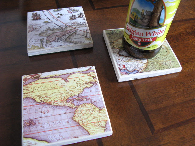 Map coasters