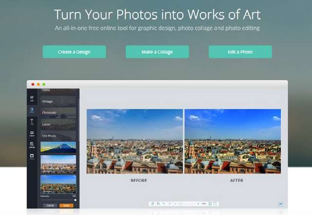 FotoJet: A Quick Online Tool for Photo Editing