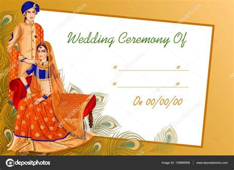Indian couple in wedding ceremony of India ? Stock Vector