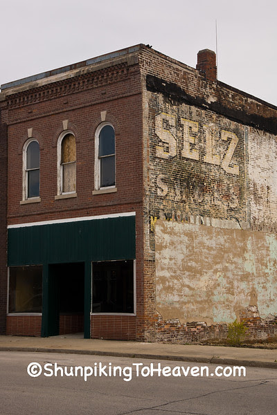 Selz Shoes Ghost Sign, McLean County, Illinois