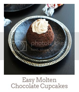 """Easy Molten Chocolate Cupcakes"""