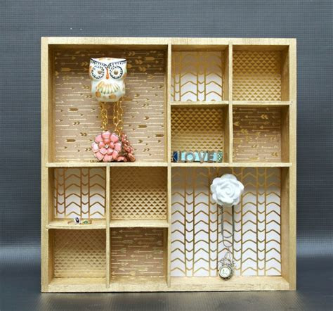 DIY Wall Organizer with Decorative Knobs   Darice