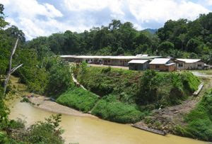 A Modern Iban Longhouse, built using new mater...