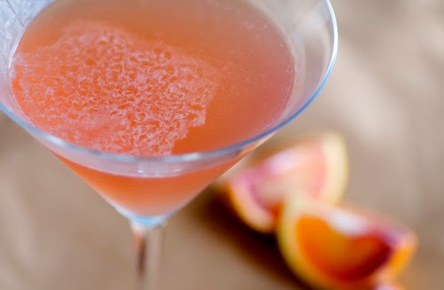 blood orange vodkatini