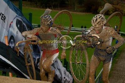 boue en cyclocross