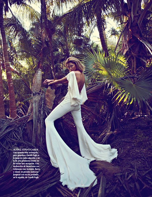 SarahGoreReevesVogueMexico10 Hana Jirickova Gets Tropical for Vogue Latin Americas 2013 April Cover Shoot