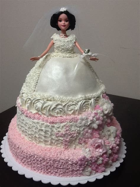First Holy Communion Tiered Doll cake   Liz's doll cakes