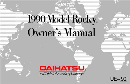 1990 Daihatsu Rocky Repair Shop Manual Reprint
