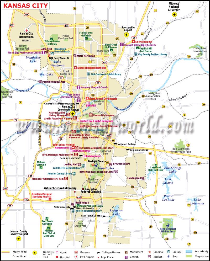 Kansas City Map Map Of Kansas City Missouri