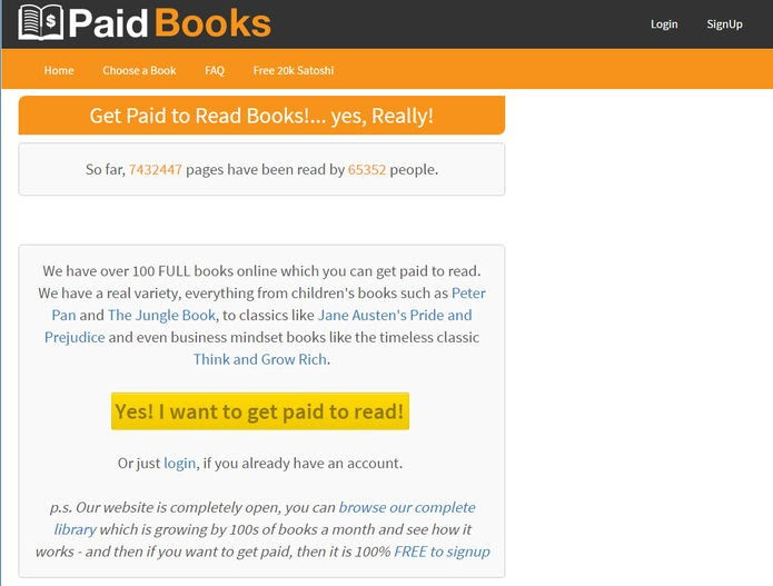 PaidBooks paga com bitcoins para você ler livros (Foto: Felipe Alencar/TechTudo)