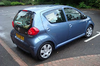 Small Aygo packed to the roof