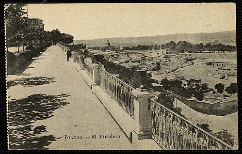 Paseo del Miradero (Toledo). Foto Lacoste, 1915