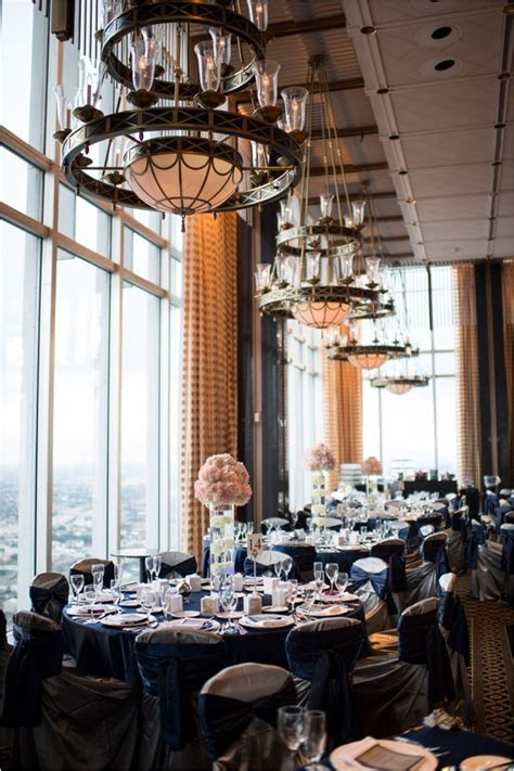 Pink and Navy Petroleum Club of Houston Wedding « Houston