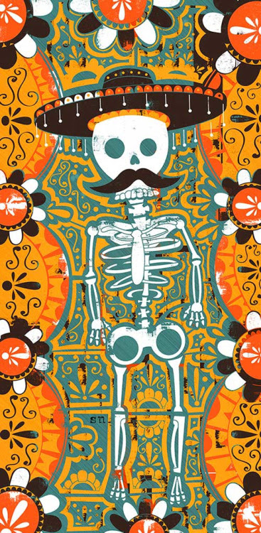 day of the dead skull. coldinalaska: day of the dead