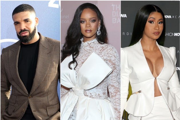 Drake, Rihanna & Cardi B Listed Among Most Tweeted About Music Acts Of 2019