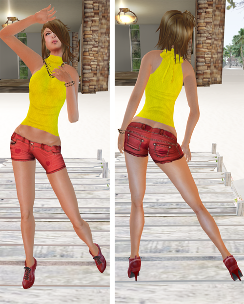 NEW! DYN Yellow Halter Top