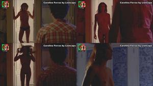 Carolina Ferraz nu total no filme O Passageiros segredo adultos