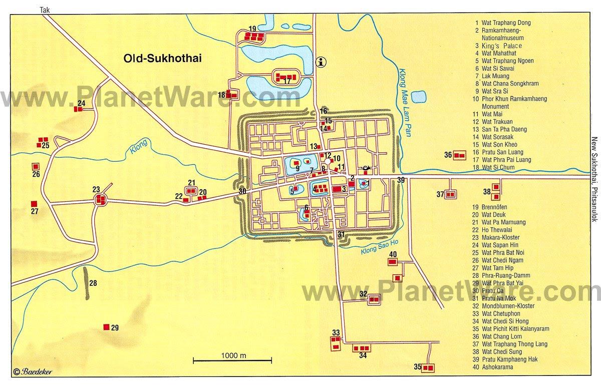 Resultado de imagen de old sukhothai map