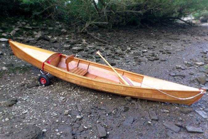Indian Girl is a stable wooden open canoe by David Nichols