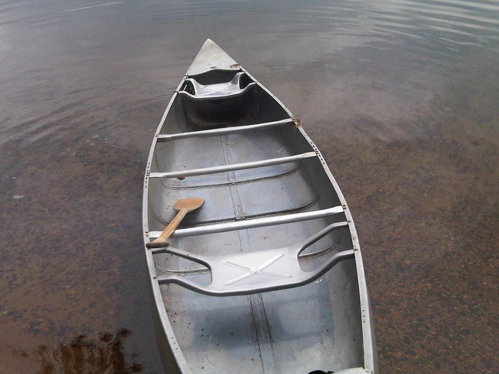 Aluminum canoe, at least 50 years old