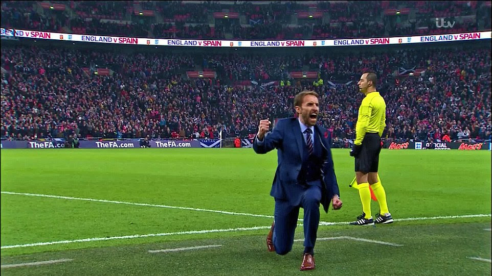 Gareth Southgate sank to one knee and punched the air as England secured a comfortable win, and he secured his job