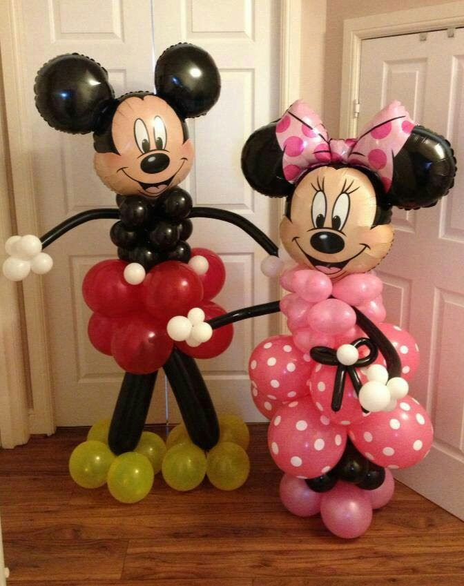 Mickey mouse and minnie mouse dIY balloon centerpieces !  | Crafts